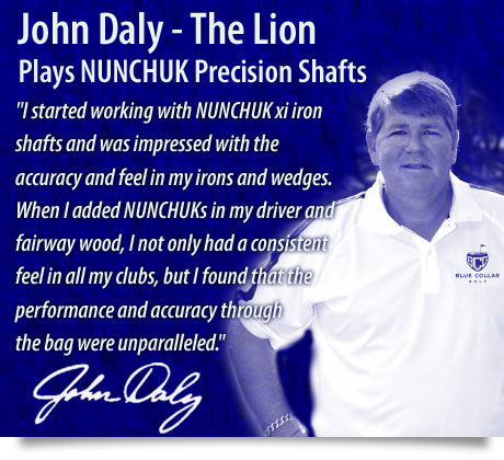 John Daly Plays Nunchuk Precision Golf Shafts